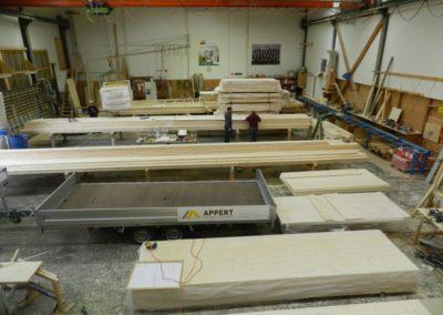Produktion der Holzbauelemente
